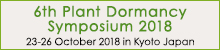 6th Plant Dormancy Symposium 2018